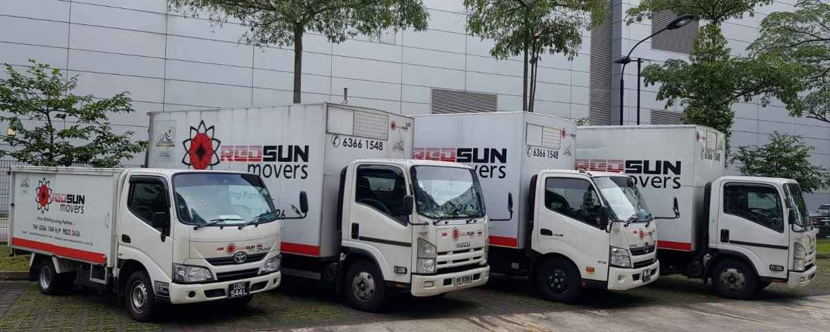 red sun moving van